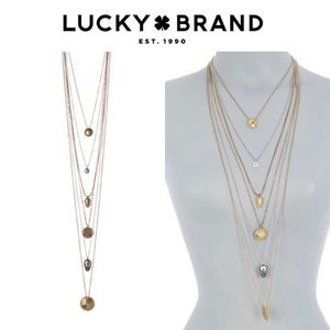 Lucky Brand Set Stone Lucky Layer Necklace